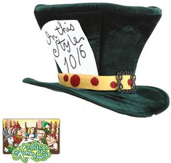 WMU - Alice In Wonderland - Classic Mad Hatter Hat, Green, One Size