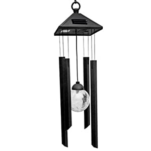 Solar Metal Wind chime / Windchime Garden Light Color Changing Powered LED Hanging Fence Wall Indoor / Outdoor Lantern Patio Colour Light from Geeney