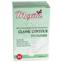 Organic Contour Pantiliners Light Days by Maxim Hygiene Products - 30 piece