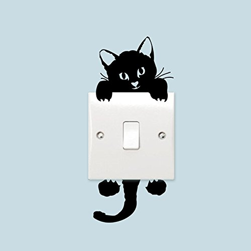 amazing-trading(TM) Switch Cat Wall Stickers Light Switch Decor Decals
