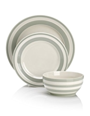 12 Piece Truro Striped Dinner Set