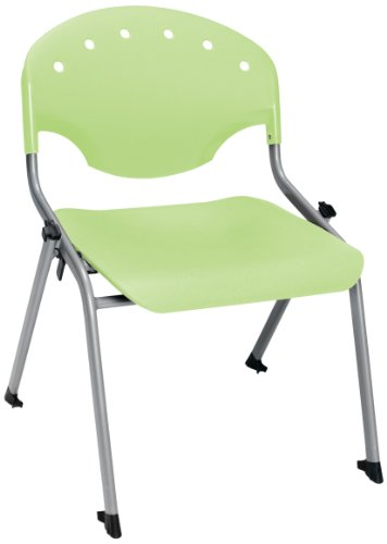 """OFM 305-16-P52 Student Stack Chair, 16"""" Height, Lime Green (Pack of 4)"""