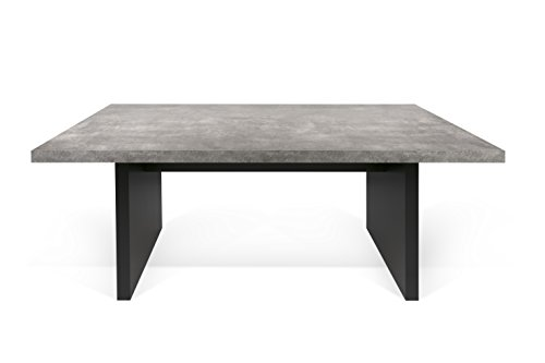 Simple TemaHome Detroit Dining Table x x cm Concrete Grey Pure