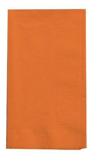 Creative Converting Touch of Color 2-Ply 50 Count Paper Dinner Napkins, Sun-Kissed Orange