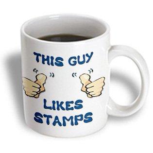 Blonde Designs This Guy Likes With Thumbs - This Guy Likes Stamps - 15oz Mug (mug_150476_2)