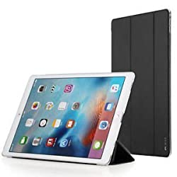 ROCK Touch Series Ultra Thin Smart Awakening Folio Stand Leather Case Cover for Apple iPad Pro-BLACK