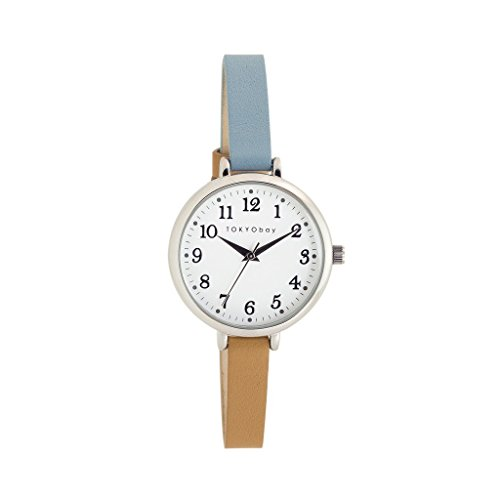 tokyobay-t523-tq-womens-two-tone-leather-band-white-dial-smart-watch