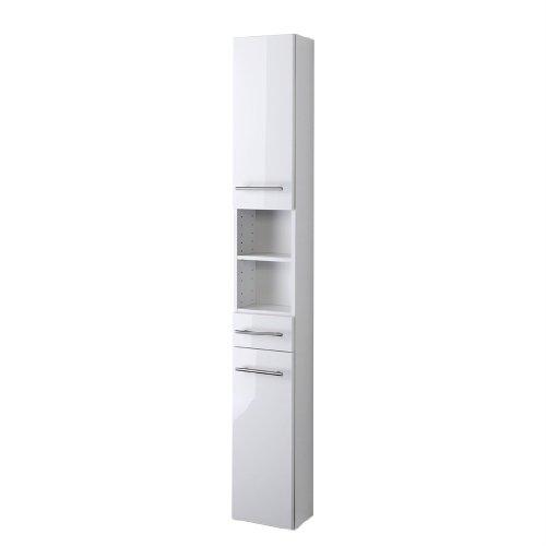 Held-Mbel-1402096-Small-Seitenschrank-2-trig-1-Schubkasten-3-Einlegebden-25-x-181-x-20-cm-Hochglanz-wei