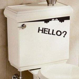 トイレ 覗き見ステッカー HELLO?