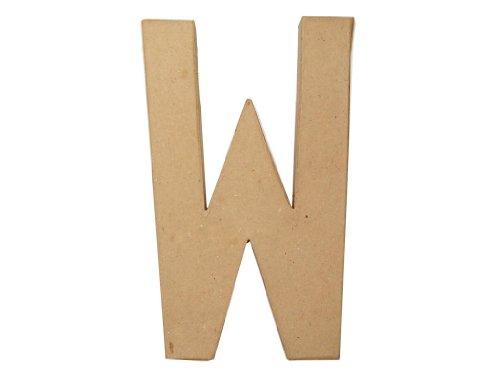 Paper Mache Letter W By Craft Pedlars 8 In.