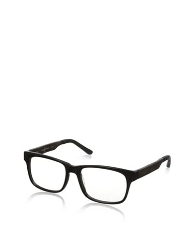 Ivory + Mason Men's Fairfax Eyeglasses, Shiny Black/Walnut