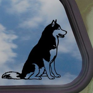 Siberian Husky Black Decal Dog Car Truck Window Sticker (Husky Decal compare prices)