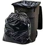 PlasticPlace Trash Bags, 65 Gallon, 50 Bags, Black