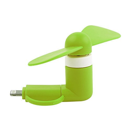 ONX3 GREEN SAMSUNG GALAXY S BLAZE 4G Mobile Cell Phone Portable Pocket Sized Fan Accessory 2 in 1 Connector For Android Micro USB and IOS iPhone