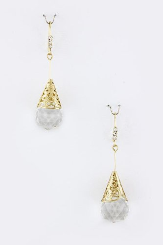 Karmas Canvas Crystal Cone Earrings front-582925