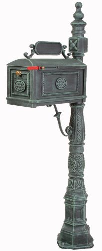 Victorian-Barcelona-Decorative-Cast-Aluminum-Better-Box-Mailbox-Verde