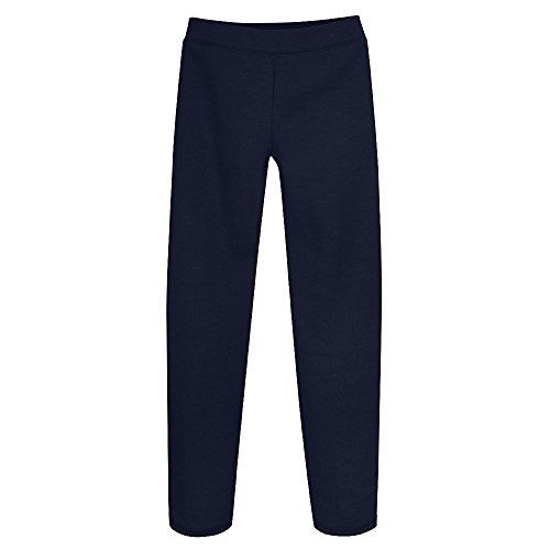 Hanes Girls' Fleece Open Bottom Sweatpants-M-Navy