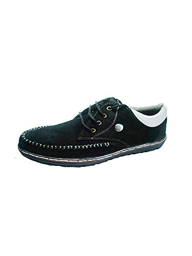 Id New Id Men's Suede Leather Classy Black Casual Shoes 9UK