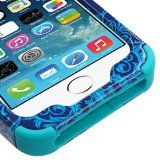 Product B00KNL93MC - Product title MYBAT TUFF Hybrid Phone Protector Cover for iPhone 5S - Retail Packaging - Purple/Blue Damask/Tropical Teal