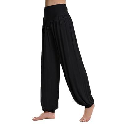DJT Womens Soft Elastic Waistband Fitness Yoga Herem Pants