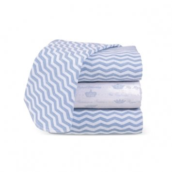Grasslands Road Swaddle Blanket Gift Set - Blue Set of 3