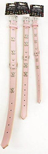 Trixie-Collare per cani con osso, in metallo, colore argento, rosa, ideale per Natale e qualsiasi momento regalo.