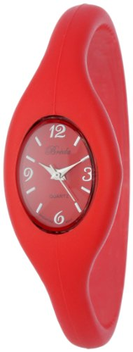 """Breda Women's 2304-red """"Lark"""" Sporty Silicone Expansion-Band Watch"""