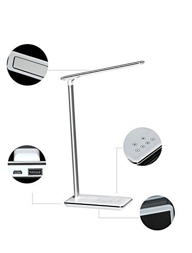LiKee Modern Elegant 12.5W 5V/2.5A Wireless Charging LED Desk Lamp (220v Hanging Heater compare prices)