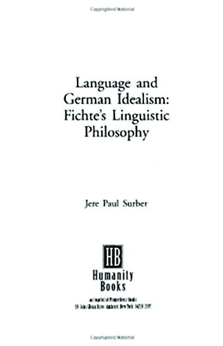 Language and German Idealism