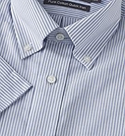 Pure Cotton Quick Iron Bengal Striped Oxford Shirt