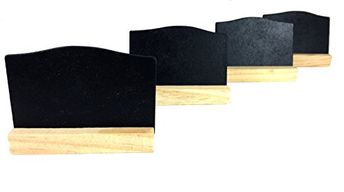 "Chalkboard Set of 6 with Wood Holder 2x3"" - 1"
