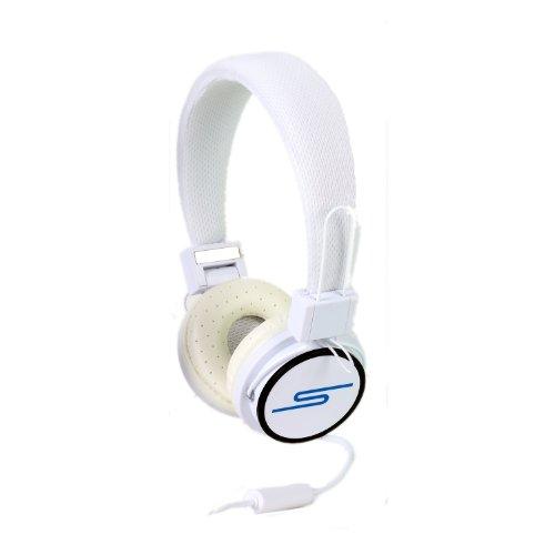 SoulBuddy S-type Kopfhörer mit Mikrofon / Headset, für Telefon und PC (Skype) weiß