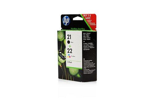Original Tinte passend für HP DeskJet D 2360 HP Nr 21 & Nr 22 SD367AE445 - 2x Premium Drucker-Patrone - Schwarz, Cyan, Magenta, Gelb - 360 Seiten