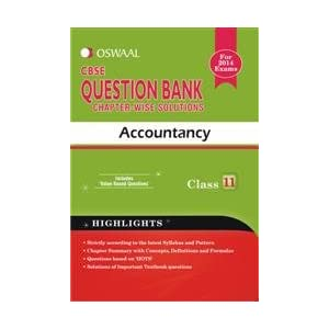 Oswaal CBSE Question Bank chapter-wise solutions, Accountancy for Class 11
