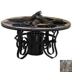 Sundance Southwest Tft2960Mgetbz Traditional Style Fire Table-29 In. Tall X 60 In. Diameter, Magnolia Design, Earth Tone Granite Colors, Bronze Powder Coat