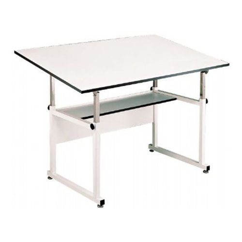 Alvin Home Office Art Drawing Crafting Drafting Hobby Center WorkMaster Table, White Base White Top 36