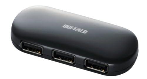 iBUFFALO パソコン/液晶TV[REGZA][AQUOS]対応 (ACアダプタ付)USB2.0ハブ セルフ&バスパワー 4ポート ブラック BSH4A01BK