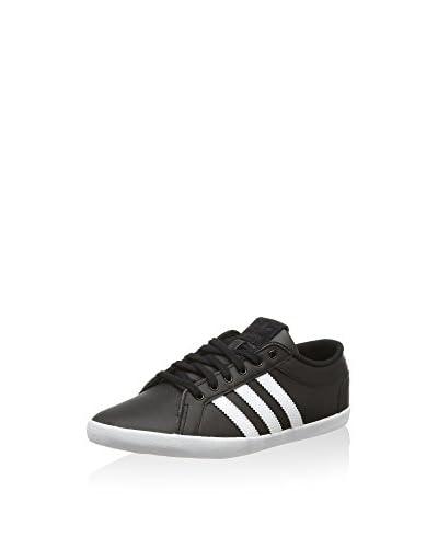 adidas Sneaker Adria Plimsole 3-Stripes schwarz/weiß/rot