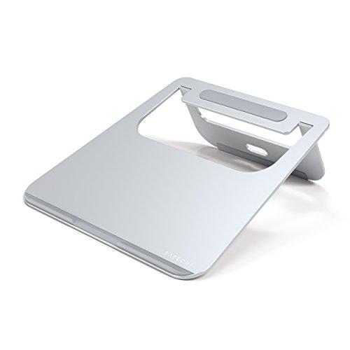 Satechi Soporte para Portátil de Aluminio Ajustable y Portátil, Soporte Ligero y Plegable para Portátiles, Notebooks y Tablets (Plata)