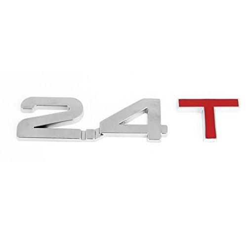 Alliage Couleur Argent Rouge 2.4T modèle 3D auto voiture emblème badge autocollant