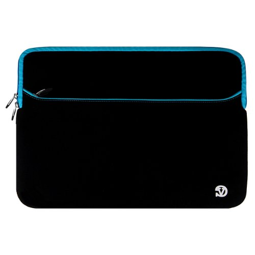 VG Neoprene Zipper Sleeve Contain (Blue Trim) for Sony VAIO S / Sony VAIO Pro 13 Touch Ultrabook / Sony VAIO 13 Light Ultrabook / Sony VAIO Duo 13 Convertible Touch Ultrabook / Sony VAIO T Series 13 Ultrabook 13.3 inch Laptops
