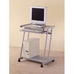 Buy Low Price Comfortable Computer Desk in Silver – Coaster (B00409PPLG)