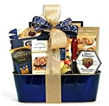 Gourmet Select Gift Basket - Chocolates, Cookies, Crackers, Nuts and Cheese Spread