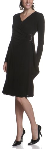 Arianne Women's Laurie Long Sleeve Cross Over Dress