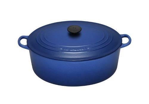 Le Creuset Cast Iron Oval Casserole, Graded Blue, 27 cm