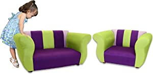 Fantasy Furniture Sofa and Chair Fancy Set, Purple/Green from Fantasy Furniture