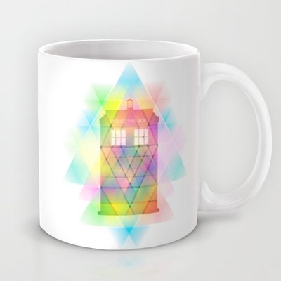 Society6 - Tardis And Triangles Doctor Who Inspired Modern Pi… Coffee Mug By Purshue