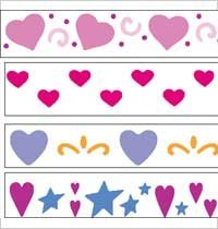 Plaid 27933 Simply Stencil, Hearts front-784812
