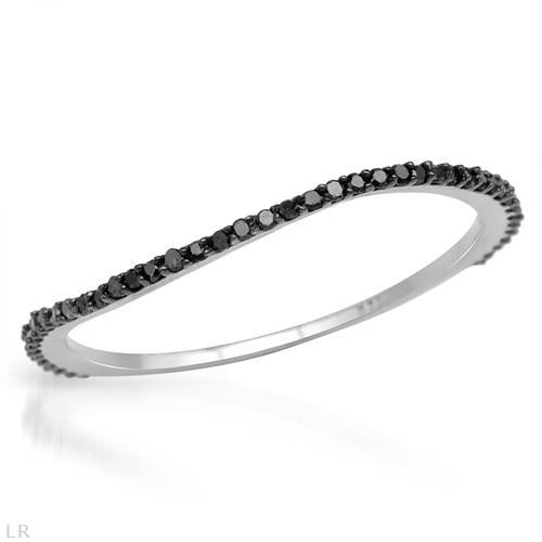 Ring With Genuine Diamonds Beautifully Crafted in 14K White Gold (Size 6.5)