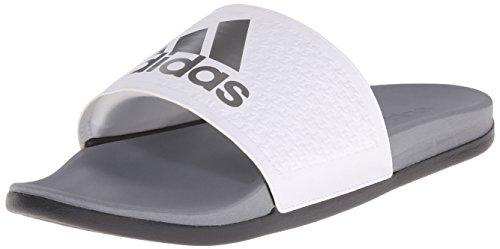 adidas Men's Adilette SC Plus SU M Sandals,White/Iron Metallic Grey/Vista Grey,10 M US (Wide Cf compare prices)